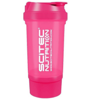 "SciTec Nutrition       SHAKER 500 Travel ""PINK"" 2 comp."