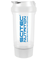 "SciTec Nutrition       SHAKER 500 Travel ""WHITE"" 2 comp."