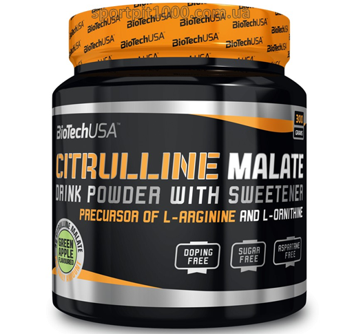 ​BioTech USA          CITRULLINE  MALATE                  300 g.