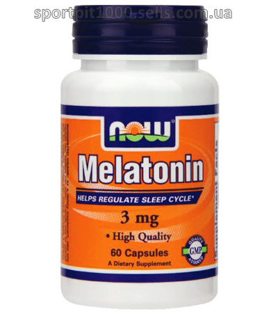 NOW Foods  Melatonin 3 mg    60caps