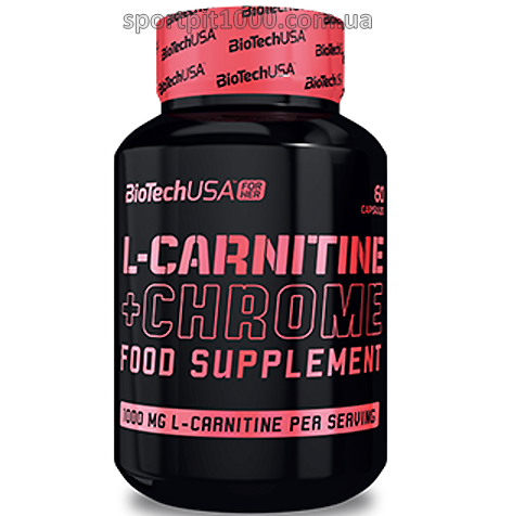 ​BioTech USA For Her    L-Carnitine + Chrome         60 caps.