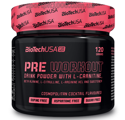 BioTech USA For Her          PRE WORKOUT                120 g.
