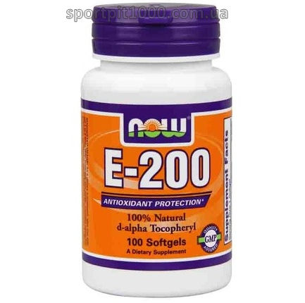 NOW Foods       E-200         100 softgel