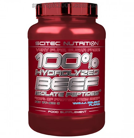 SciTec Nutrition  100% Hydrolyzed  Beef  Isolate Peptides 900 g.