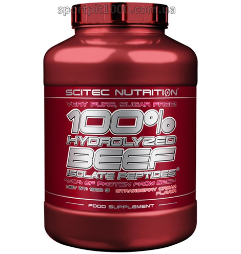 SciTec Nutrition  100% Hydrolyzed  Beef  Isolate Peptides1800 g.
