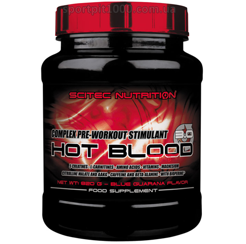 Scitec Nutrition            HOT BLOOD 3.0                  820 g.