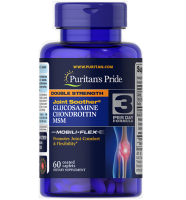 Puritan'sPride DoubleStrength Glucosamine,Chondroitin&MSM     60 caps.