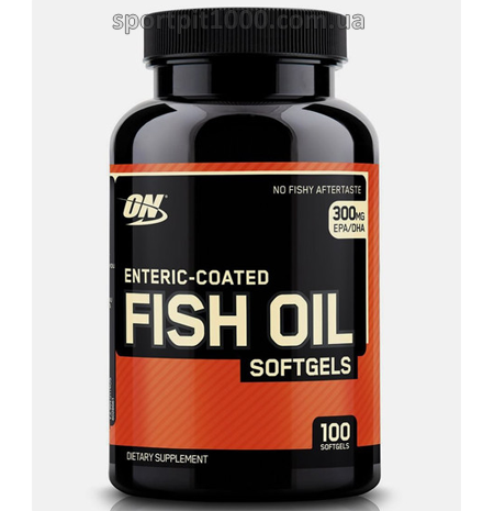 Optimum Nutrition  Enteric-coated FISH OIL soft gels    100 soft gel