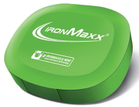 IronMaxx Nutrition         Pill box        Green IronMaxx logo