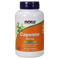 NOW        Cayenne 500 mg.                 100 veg capsules