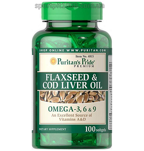Puritan's Pride        Flaxseed & Cod Liver Oil          100 softgels