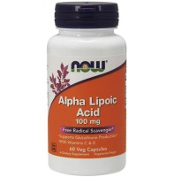 NOW             Alpha Lipoic Acid  100 mg.        60 veg capsules.