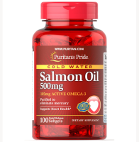 Puritan's Pride         Salmon Oil 500mg Omega-3        100 softgels
