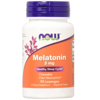 NOW                    Melatonin 3 mg                        90 Lozenges