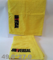 Universal Nutrition   Towel logo Universal Yellow  49*27