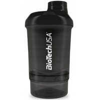 BioTechUSA  Shaker Wave+Nano Panther Black  300 ml.​+150 ml.