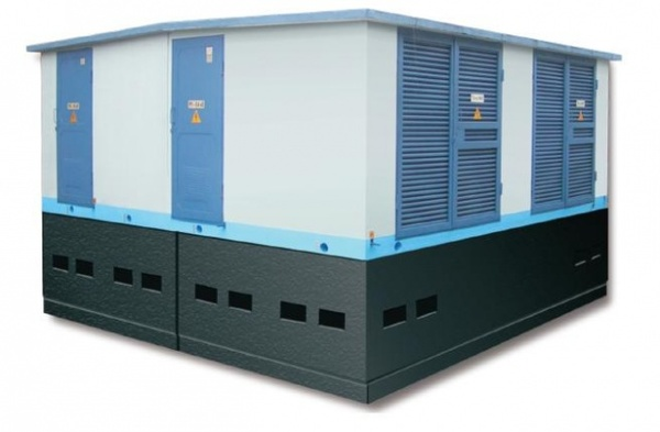 Complete transformer substations in concrete case