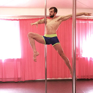 guy on the  pole