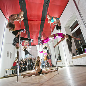 girls on the  pole